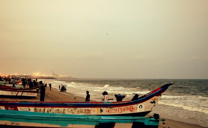 Evening at Marina Beach, Chennai
