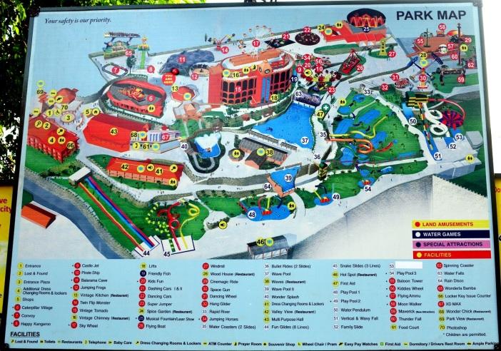 Wonder La, Kochi-  Park Map