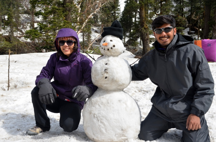 Supercool Snowman with its creators
